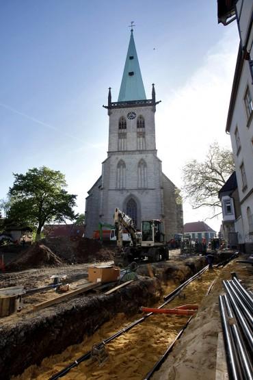 Baustelle evangelische Stadtkirche Unna