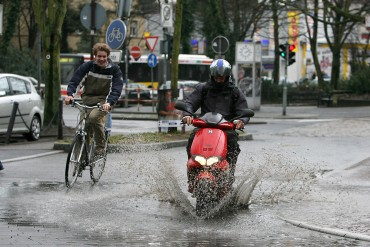 Schlechtes Wetter in Unna