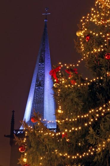 Unnaer Marktplatz zur Weihnachtszeit