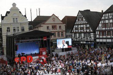 SPD Kanzlerkandidat Martin Schulz in Unna